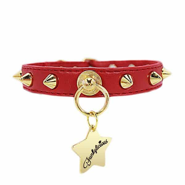 Collar New Baby Punk Rojo