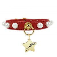 Collar New Pearls Rojo