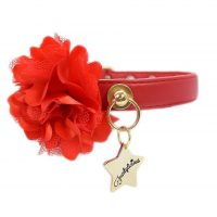 Collar Flower Rojo